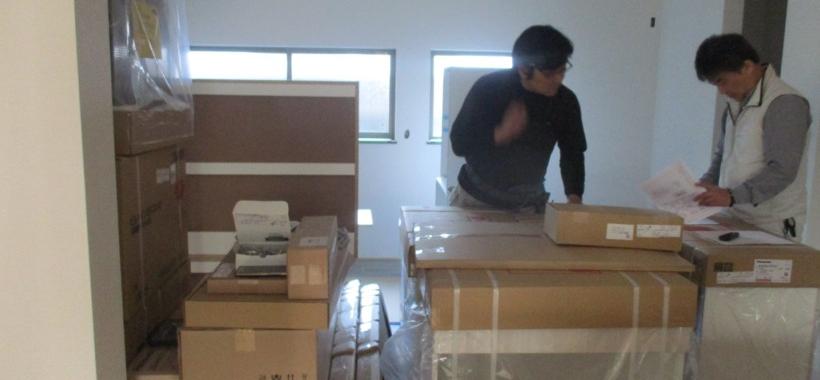 Mri邸/キッチン組み立て、内装工事