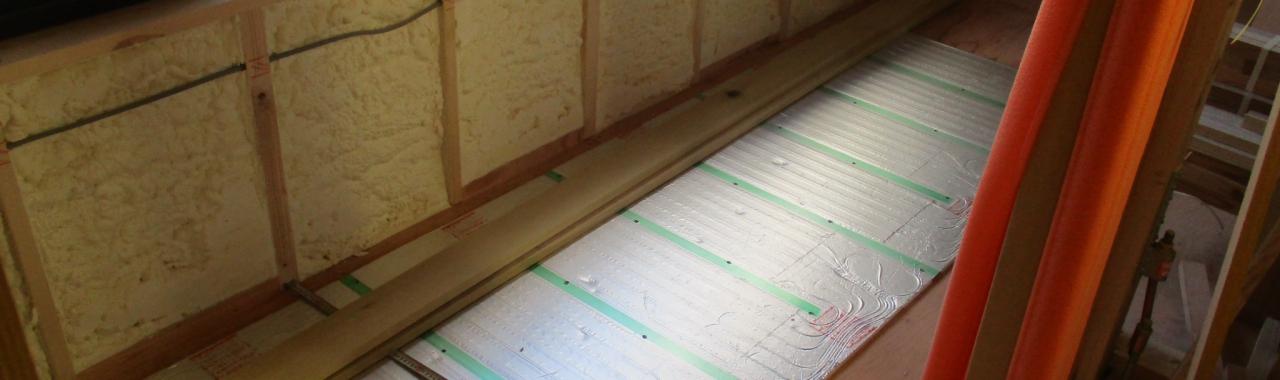 Tdt邸/床暖パネル設置
