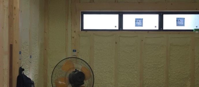 Hys邸/窓取り付け、断熱工事