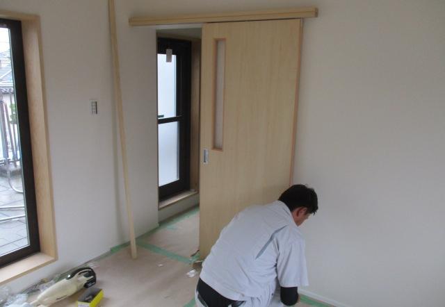 Mnm邸/建具、デッキ工事