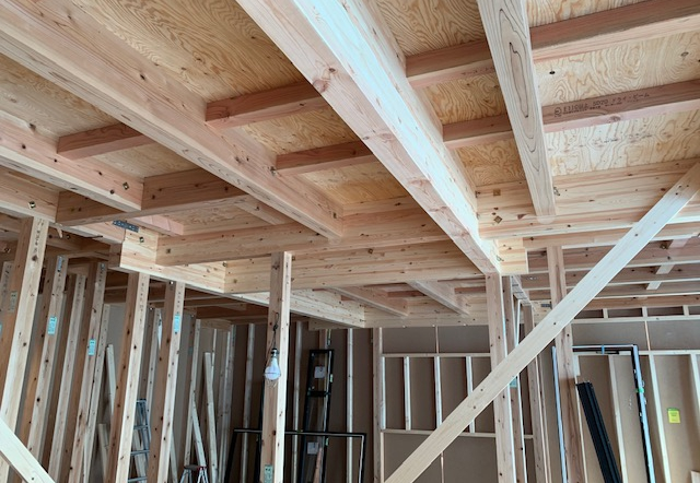Fjw邸/サッシ開口開け、構造用金物取付工事