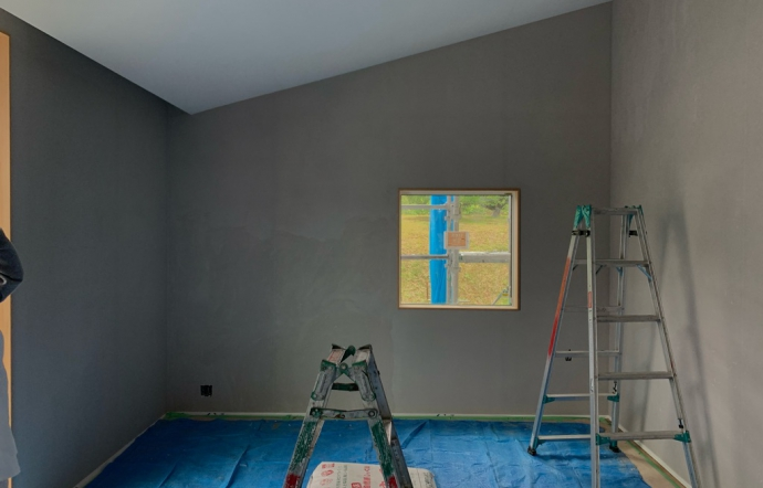 Odj邸/外壁塗装、内部左官
