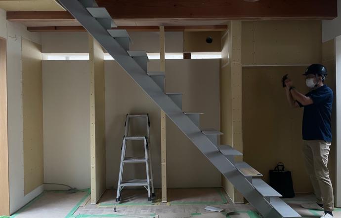 Myz邸/階段工事